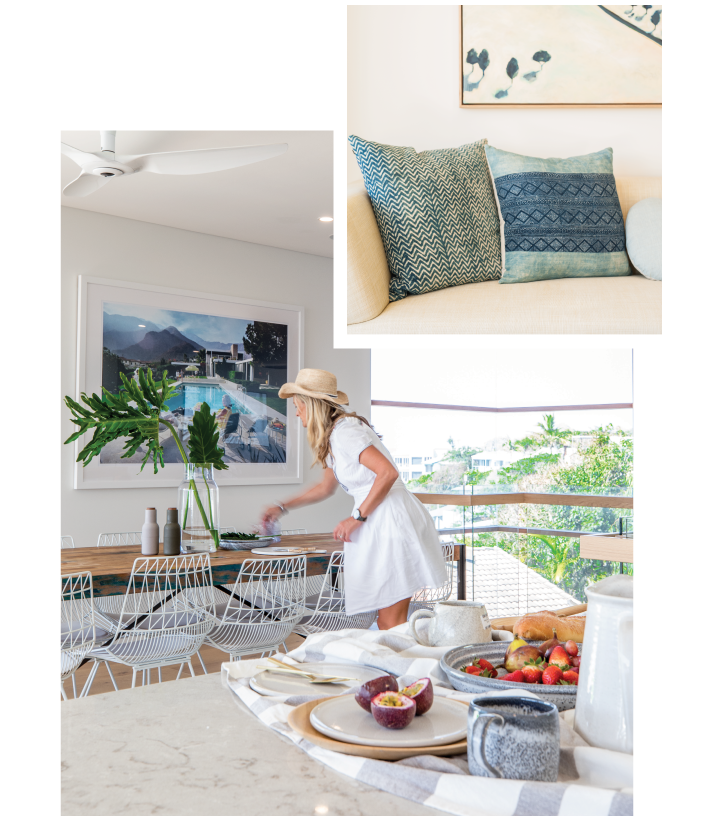 holiday properties - lady in dining room